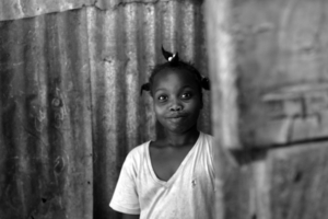 A Dominican girl in batey Libertad, June 2006.