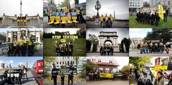 Stop Torture - Uzbekistan petition delivery