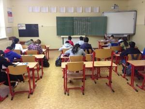 interior of container school for Roma children in Slovakia