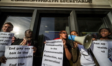 LGBTI equality protest outside Commonwealth HQ