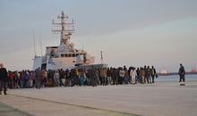 Migrants Disembark in Siciliy - April 2015