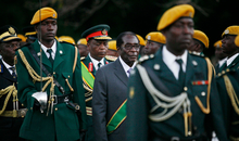 Zimbabwean President Robert Mugabe at his inauguration ceremony at State house in Harare, 29 June 2008.