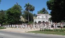 Ladies in White (Damas de Blanco) marching in Havana, Cuba, 23 May 2010.