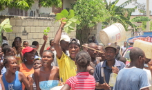 AI mission in post-earthquake Haiti This photo is one of the photographs used in the slideshow - Five Years of Work of Amnesty International Post Earthquake Haiti: 2010 - 2015. Please contact caribbean@amnesty.org for more information about this image.