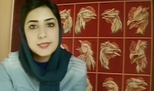 Screenshot from a video posted by Atena Farghadani, an Iranian artist and prisoner of conscience, after her first arrest and detention in 2014. She was rearrested in January 2015 and went on hunger strike in February in protest at her ill-treatment in prison. https://www.youtube.com/watch?v=Ybx0HE7ykt8