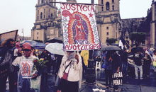 Demonstration in Mexico City 12 months after the enforced disappearance of 43 students in the town of Iguala, state of Guerrero. The students went missing after they were arrested by local police on 26 September 2014. They haven't been seen since.