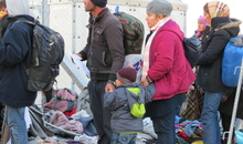 Refugees and asylum-seekers anticipate being let into Macedonia along the border (Idomeni on the Greek side, Gevgelija on the Macedonian side). On 18 November, Macedonia – along with Serbia, Croatia and Slovenia – introduced a discriminatory border policy, only allowing Syrian, Iraqi and Afghan refugees to enter. For the next 20 days, Macedonia's authorities arbitrarily pushed back thousands of refugees and migrants to Greece – ignoring any claim they may have to asylum. In early December, Amnesty International returned to the border to monitor this policy in practice.