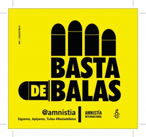 "Logo of ""Basta de Balas"" the campaign of AI Venezuela for the gun and ammunition control"