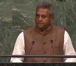 Amnesty International's Secretary General, Salil Shetty addresses world leaders at the United Nations in New York on the 25 September 2015