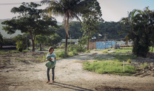 Maria da Penha Silva is a defender of his favela Vila Autódromo . More than 20 families have been violently expelled from their community.