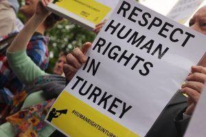 Protest held at Turkish Embassy Dublin against police brutality in Turkey, June 2013.