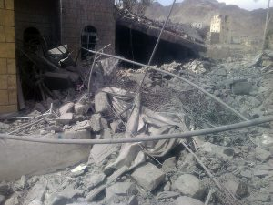 "Album (MSFALB825) - Taken after Air Strike Airstrike on MSF facility in Haydan, YEMEN Description: MSF facility in Saada, Yemen has been hit by several airstrikes on October 26th during the night while patients and staff were inside the structure. Download date: 27/10/2015 1:09:31 PM More info from MSF: The first airstrike took place at around 10:30 pm on Monday October 26th. The last airstrike was around 12:00 am. All the staff managed to leave the facility once they heard the first airstrike. There were two patients in the IPD department who also managed to escape after the first airstrike.  ""I was not able to go inside as we believed there were remaining bombs that have not been exploded but I can confirm that the facility is 99% destroyed, "" said Miriam Czech, MSF project coordinator in Sa'ada. "" The emergency room was destroyed, the OPD, the IPD the lap and the maternity was destroyed. There was functioning OT but that was also destroyed."" Miriam was not there during the airstrike but she visited the facility today. She arrived there by 11:00 am (12 hours after the airstrike) and said that she could see and smell the smoke coming out of the facility. The health facility is closed now, and it was the only life-saving facility in the region. MSF used to receive around 150 emergency cases a week. Since May 2015, MSF received around 3400 injured. MSF recently was receiving less numbers as patients were not able to reach the health facility because of fear or airstrikes."