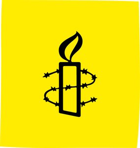 Amnesty International candle for Shine a Light lanterns and projections An eps vector graphic version of this image file is attached below as an Item.