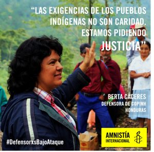 """Banners to use in social media for the launch of the report """"Defending the land with our blood"""" on 01/09/2016. The report highlights the situation of territory, land and environmental rights defenders in Honduras and Guatemala. The banners are made with portraits of defenders interviewed by Amnesty International and a quote of their testimonies."""